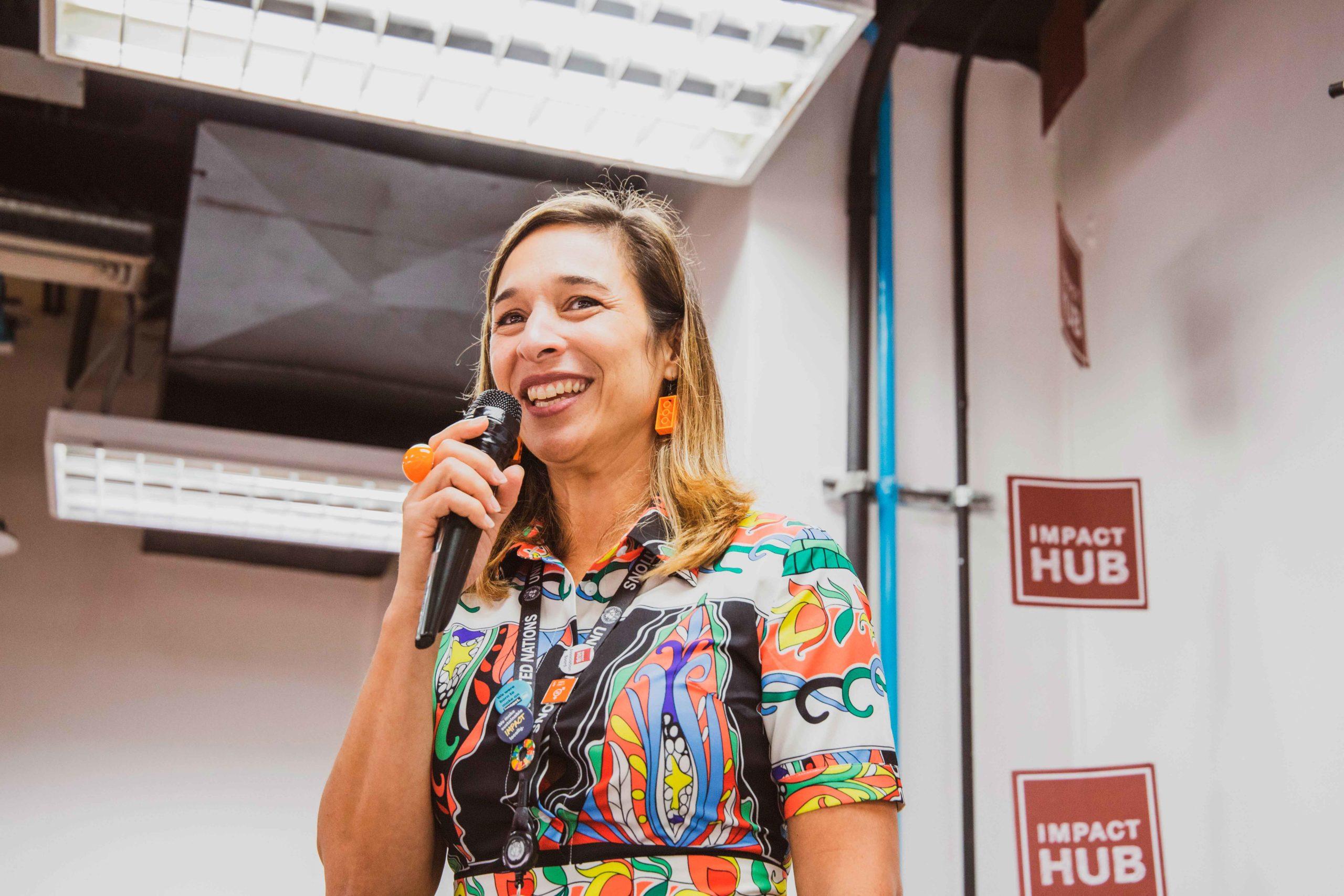 Claudia Valladares cofundadora y presidenta de Impact Hub Caracas